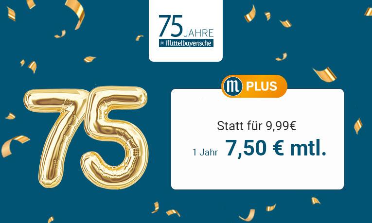 M-Plus Jubiläumsangebot