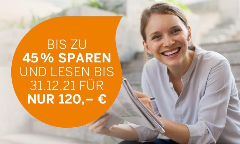 Zeitung bis Jahresende für nur 120 EUR