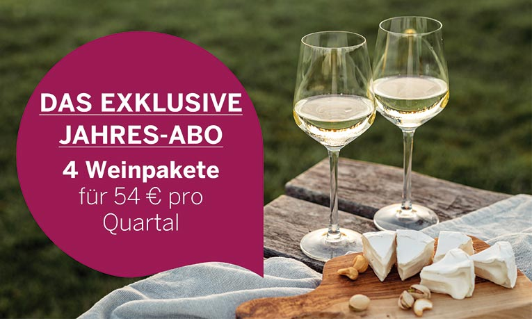 Exklusives Wein-Jahresabo