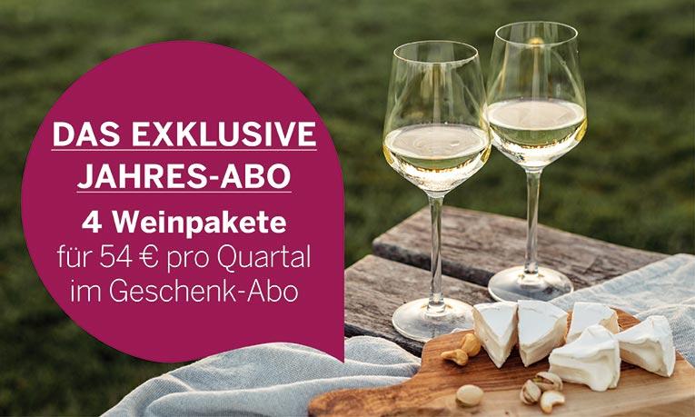 Exklusives Wein-Jahres-Geschenkabo